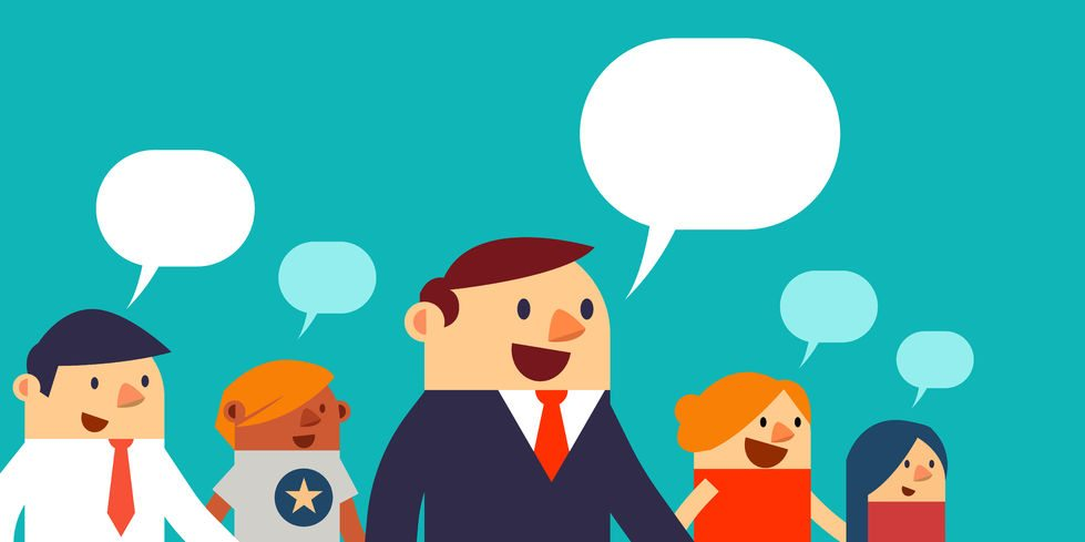 53371492 - vector illustration business peoples and speech bubbles, web banner.